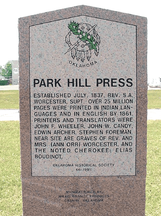 Exploring Oklahoma History: Park Hill Press