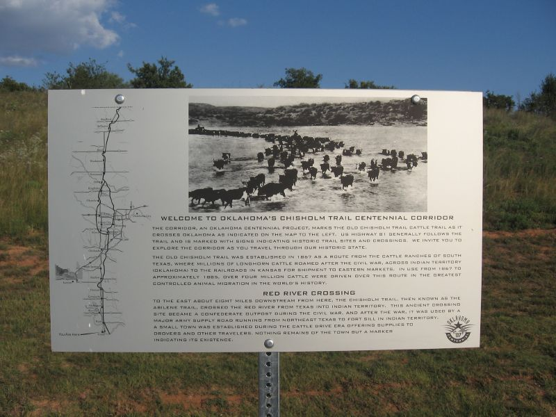 Exploring Oklahoma History: Welcome to Oklahoma's Chisholm Trail Centennial Corridor-Red River Crossing