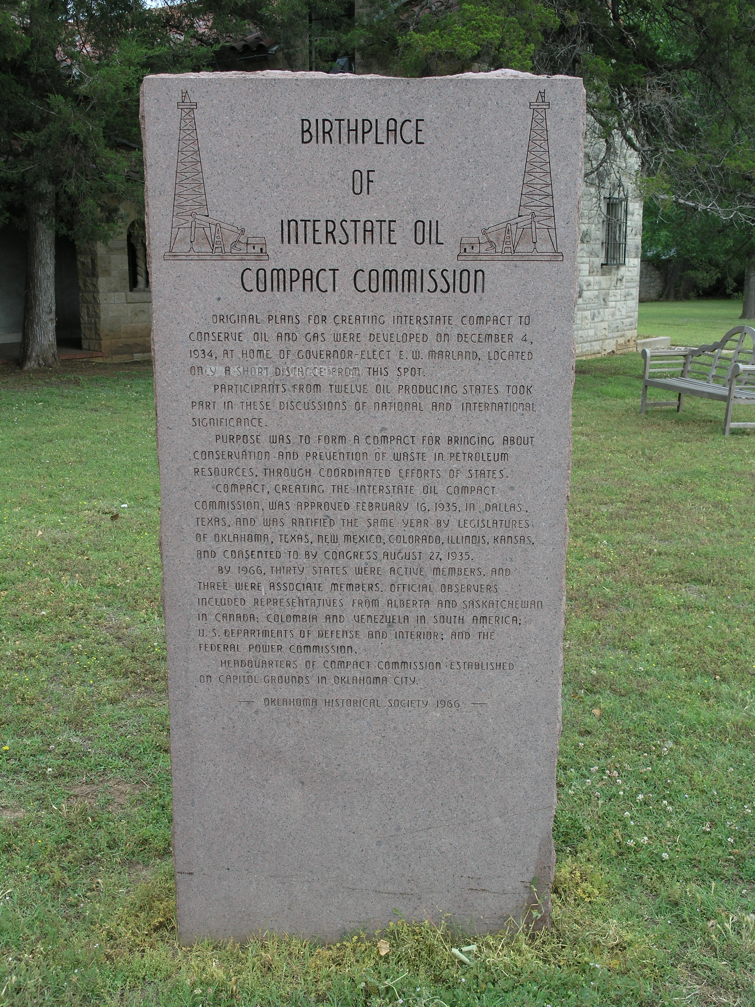 Exploring Oklahoma History: Interstate Oil Compact Commission