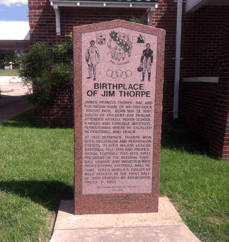 Exploring Oklahoma History: Jim Thorpe Birth Place #1