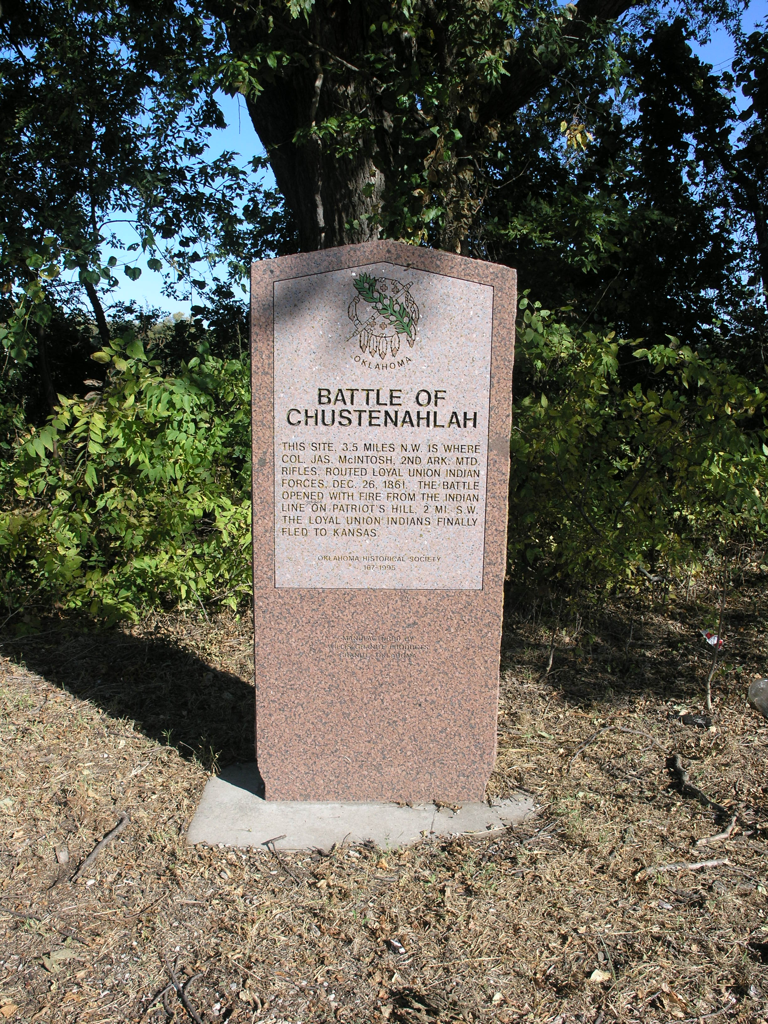 Exploring Oklahoma History: Battle of Chustenahlah
