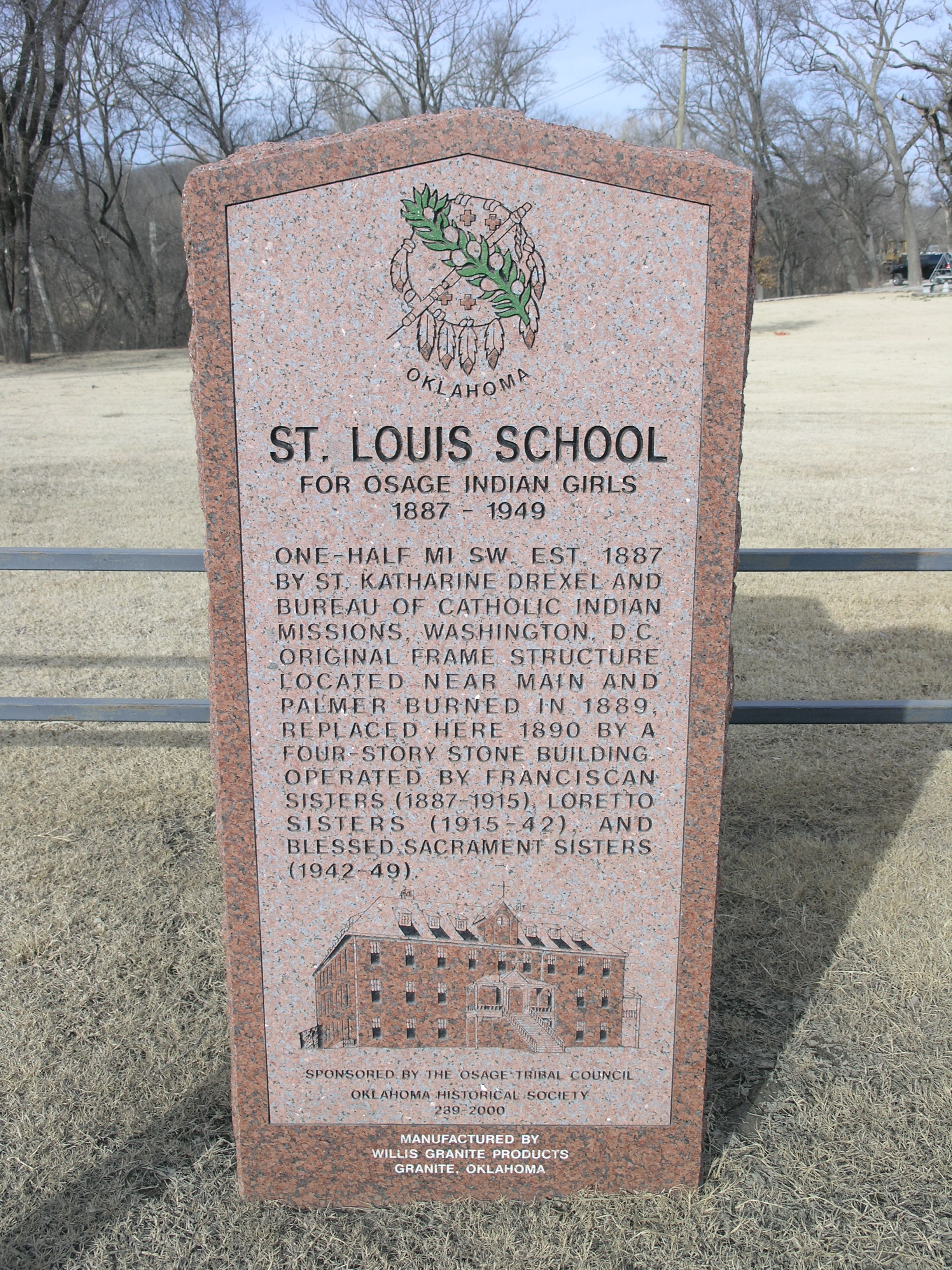 Exploring Oklahoma History: St. Louis School for Osage Indian Girls