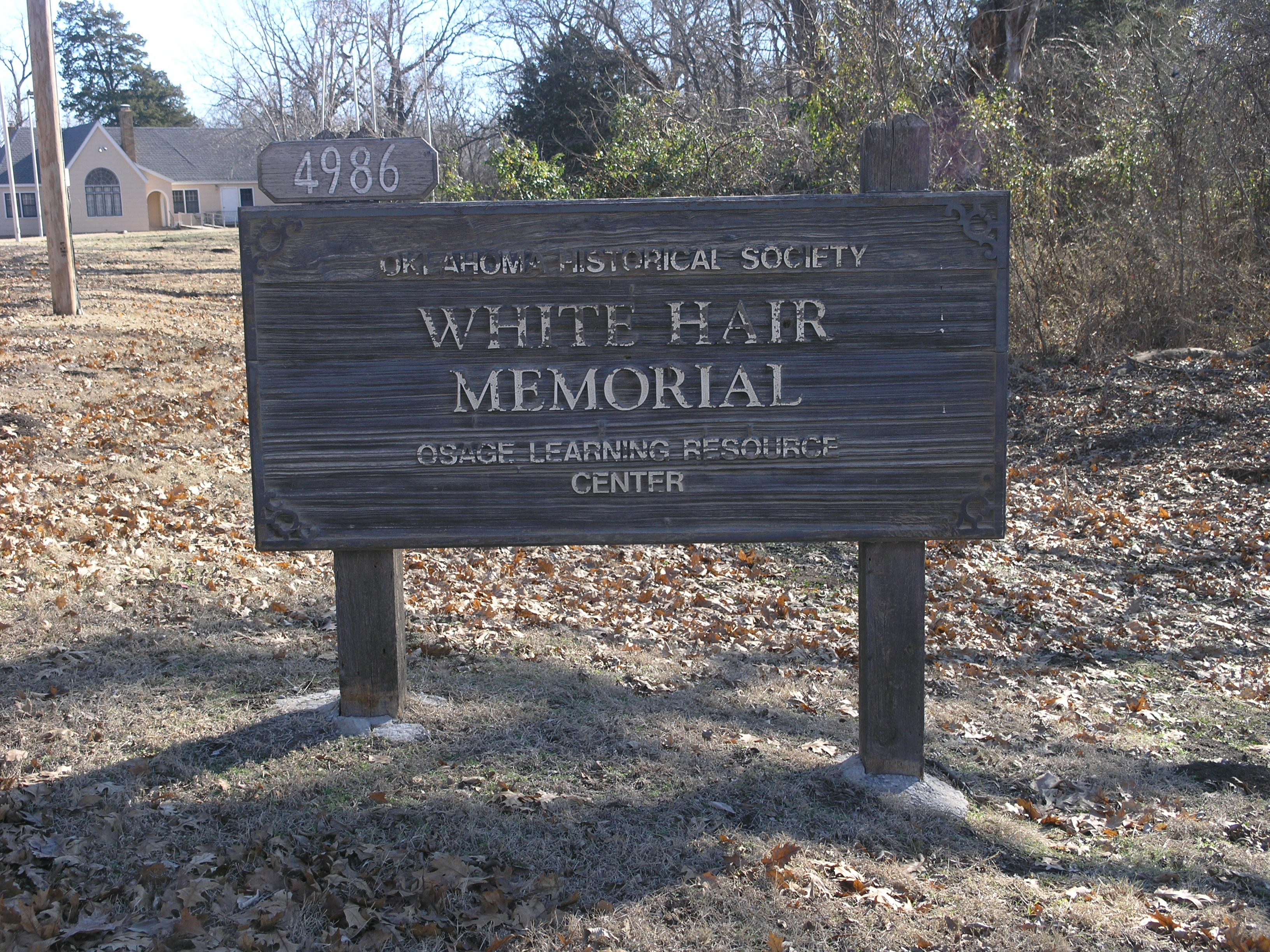 Exploring Oklahoma History: White Hair Memorial