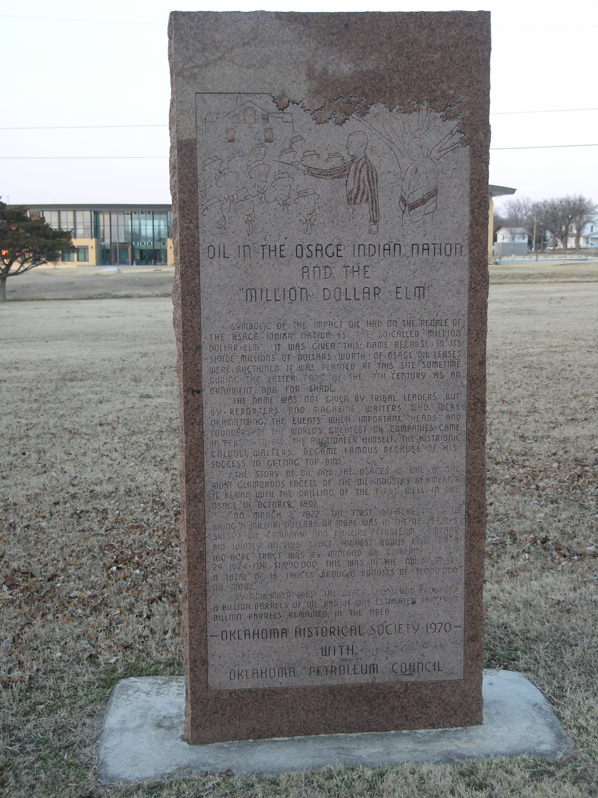 Exploring Oklahoma History: Oil in the Osage Indian Nation and the Million Dollar Elm