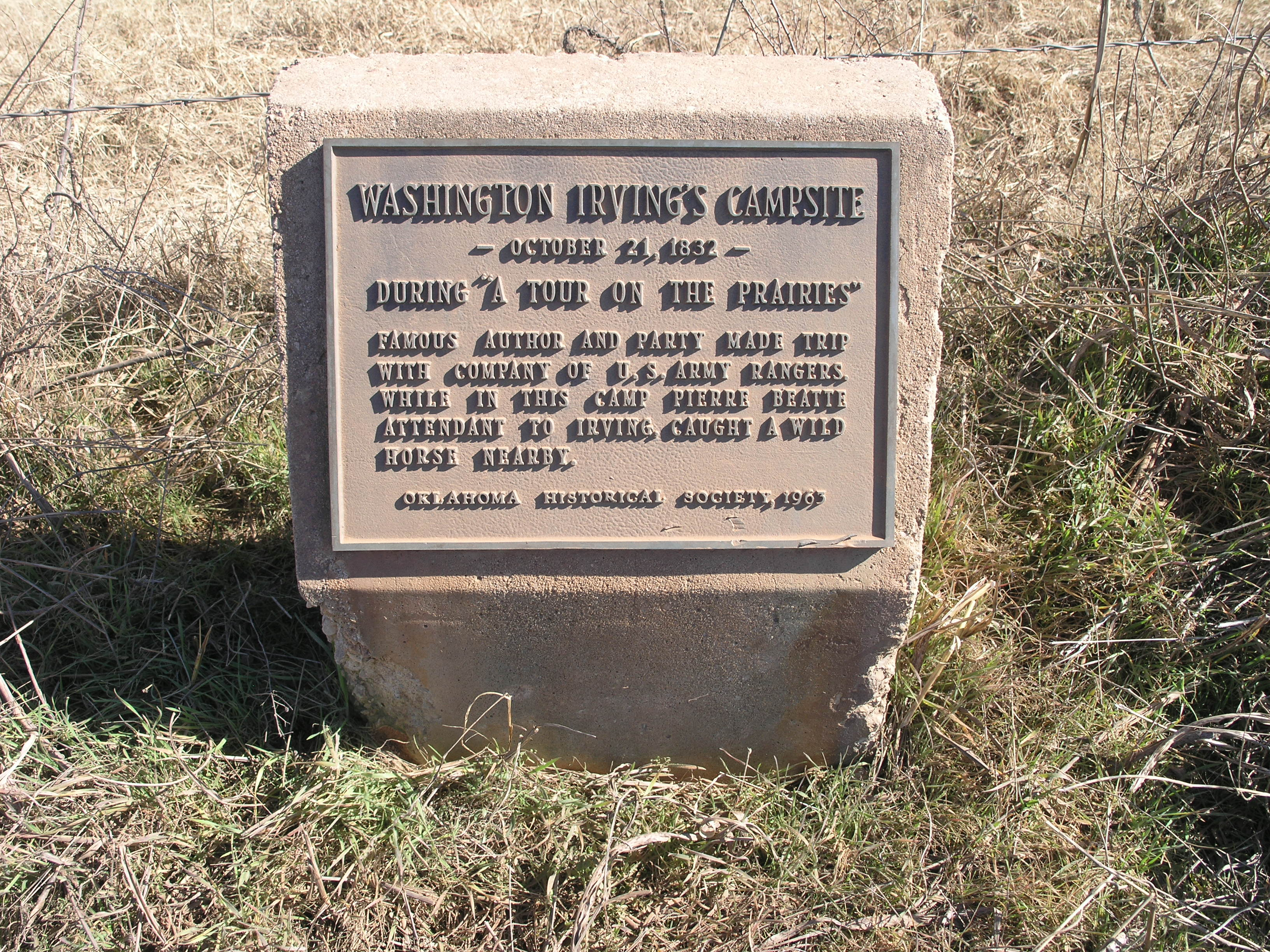 Exploring Oklahoma History: Wild Horse Creek - Washington Irving