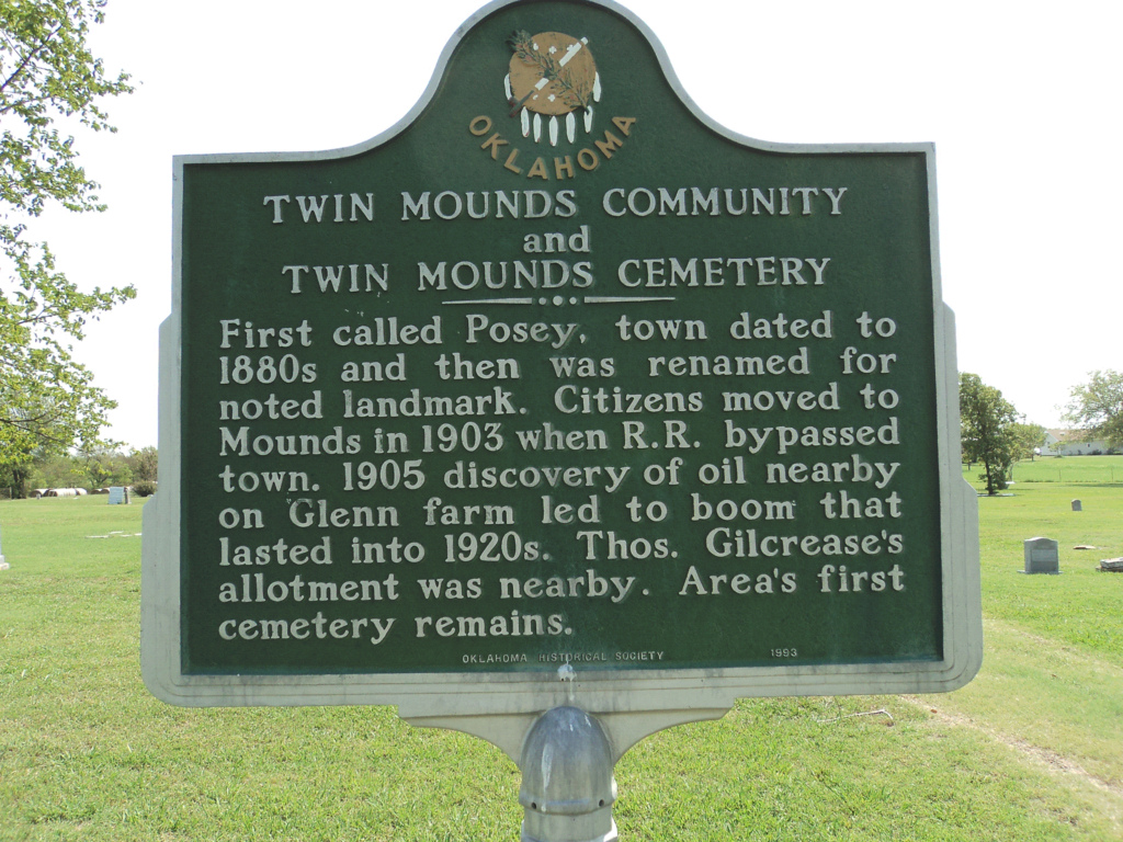 Exploring Oklahoma History Twin Mounds Pioneer Cemetery