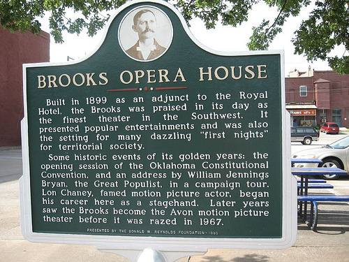 Exploring Oklahoma History: Brooks Opera House