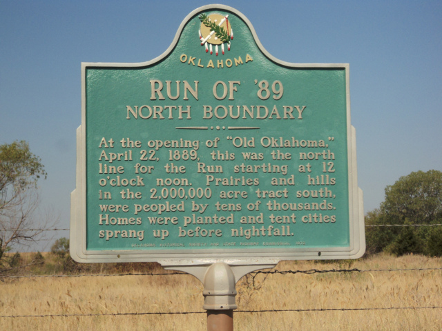 Exploring Oklahoma History: Run of '89-N. Boundary