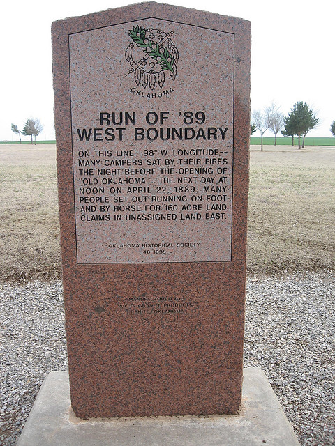 Exploring Oklahoma History: Run of '89-W. Boundary