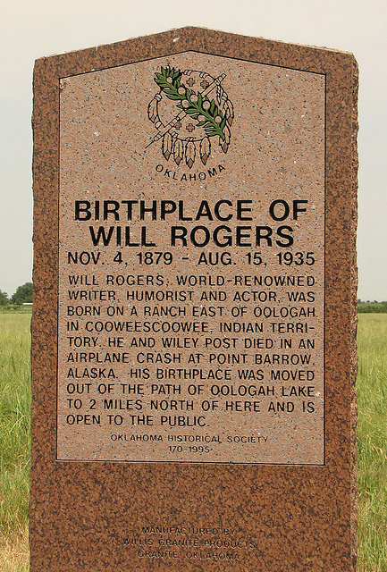 Exploring Oklahoma History: Birthplace of Will Rogers