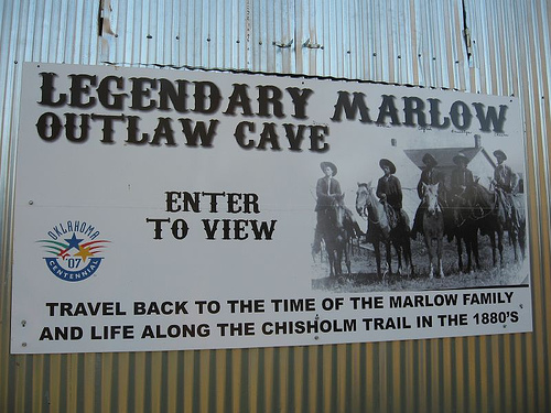 Exploring Oklahoma History: Marlow Outlaw Cave