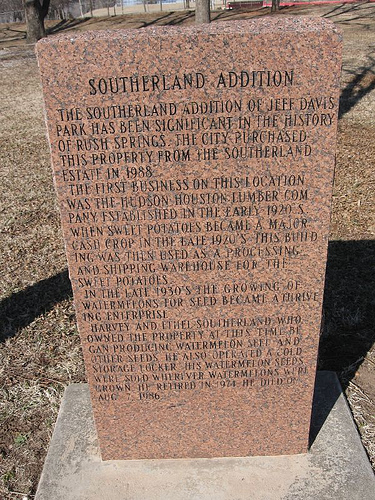 Exploring Oklahoma History: Southerland Addition -  Rush Springs