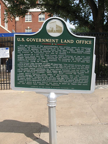 Exploring Oklahoma History: U. S. Government Land Office