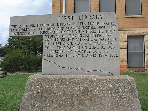 Exploring Oklahoma History: First Library in Oklahoma