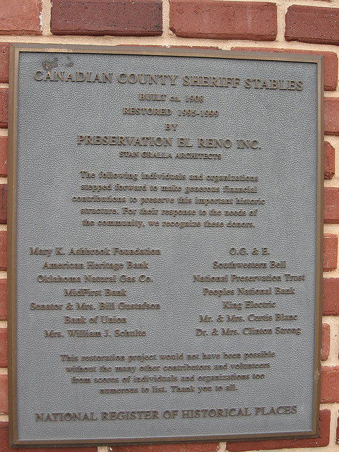 Exploring Oklahoma History: Canadian County Sheriff Stables