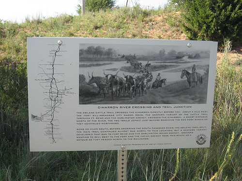 Exploring Oklahoma History: Cimarron River Crossing the Trail Junction