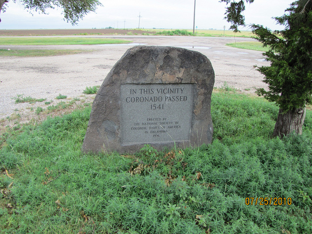 Exploring Oklahoma History: In This Vicinity Coronado Passed 1541