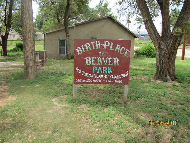 Exploring Oklahoma History: Lane Cabin / Birth-Place of Beaver